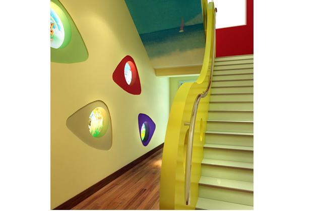 幼儿园室内走廊效果图